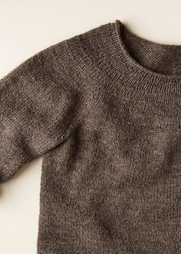 Top-Down Circular Yoke Pullover In Good Wool   Purl Soho   Knitting