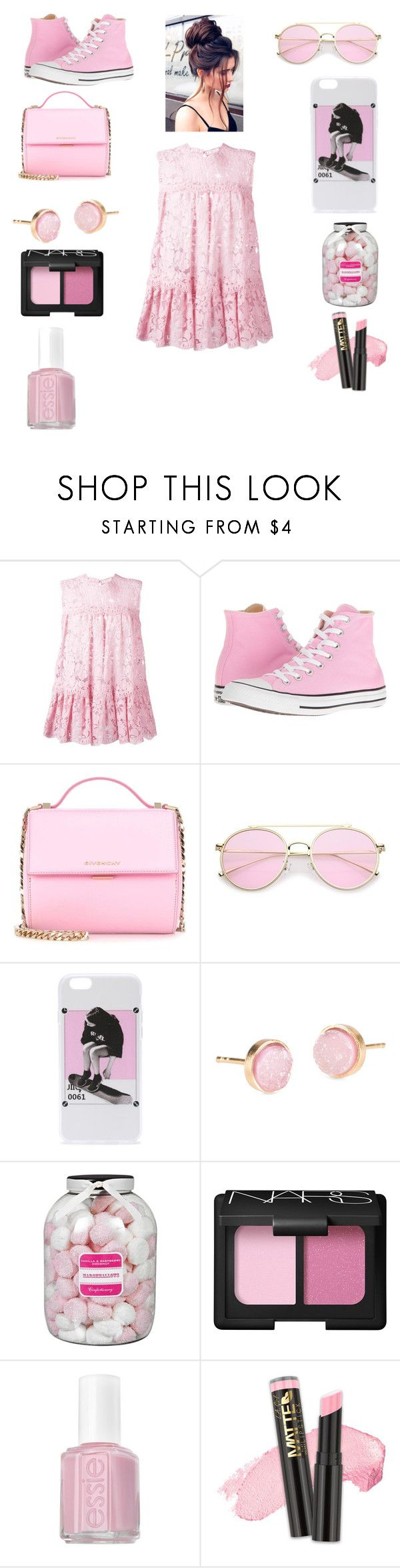 """""""color crush: pink"""" by kiwi01 ❤ liked on Polyvore featuring Alexander McQueen, Converse, Givenchy, Pernille Corydon, Farhi by Nicole Farhi, NARS Cosmetics, Essie and L.A. Girl"""