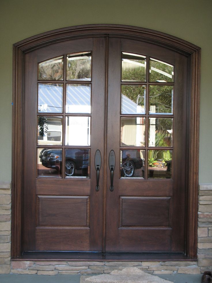 Luxury Dark Brown Entry Door