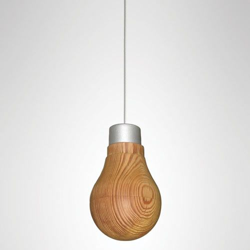 Wooden Light Bulb That Really Glows by Ryosuke Fukusada - designmilk.com