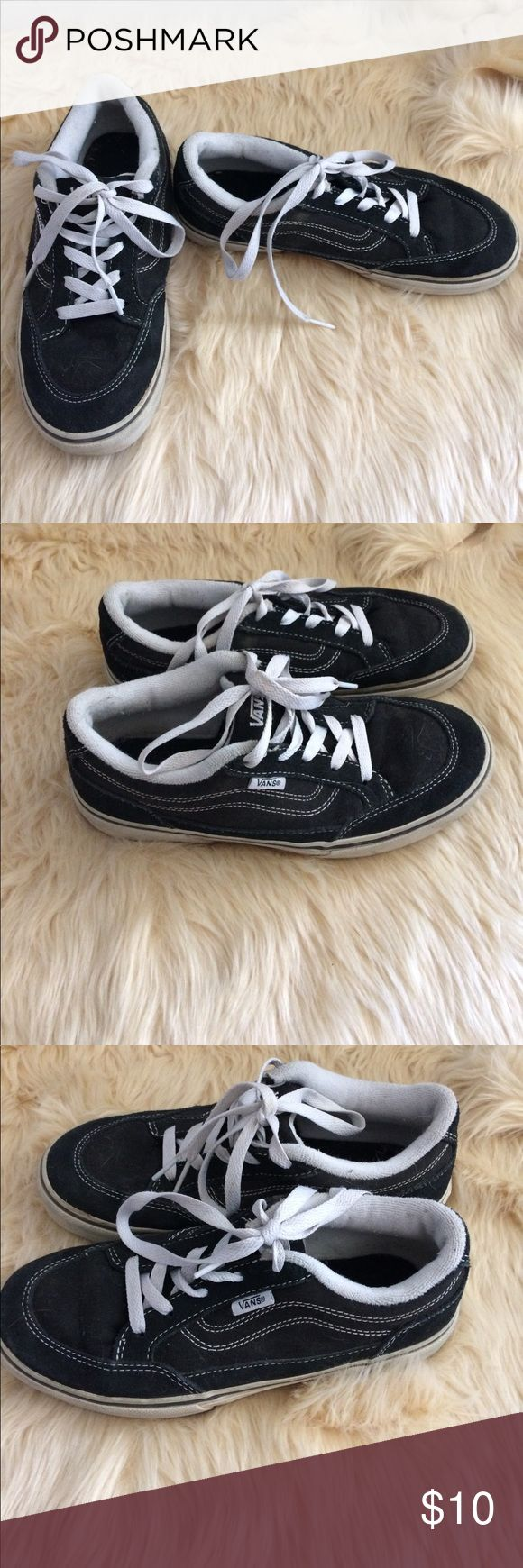 Black Vans shoes This is a pair black vans tennis shoes my son hardly warm there still in really good condition Vans Shoes Sneakers