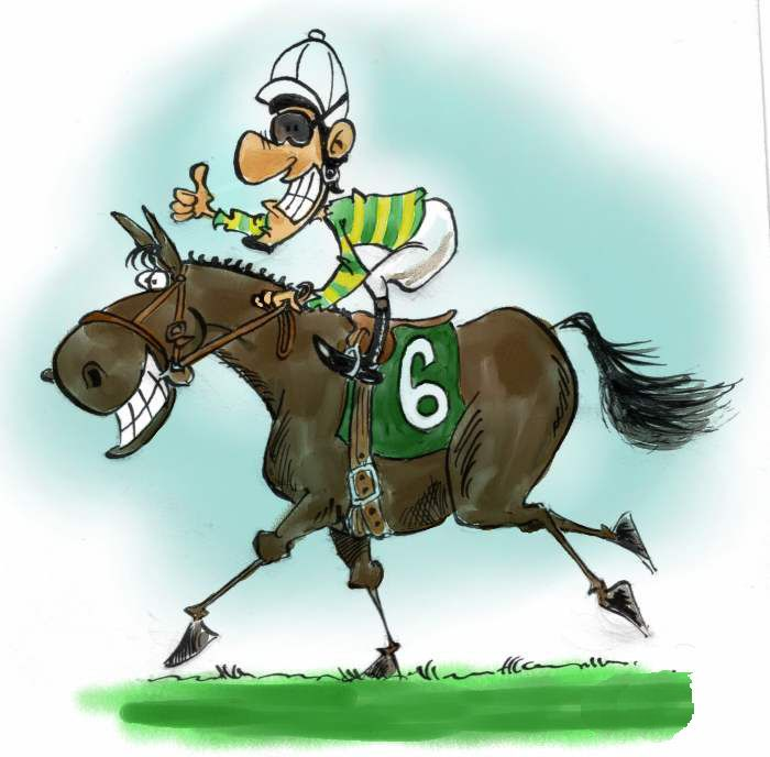 Horse Art Funny Racing Clip