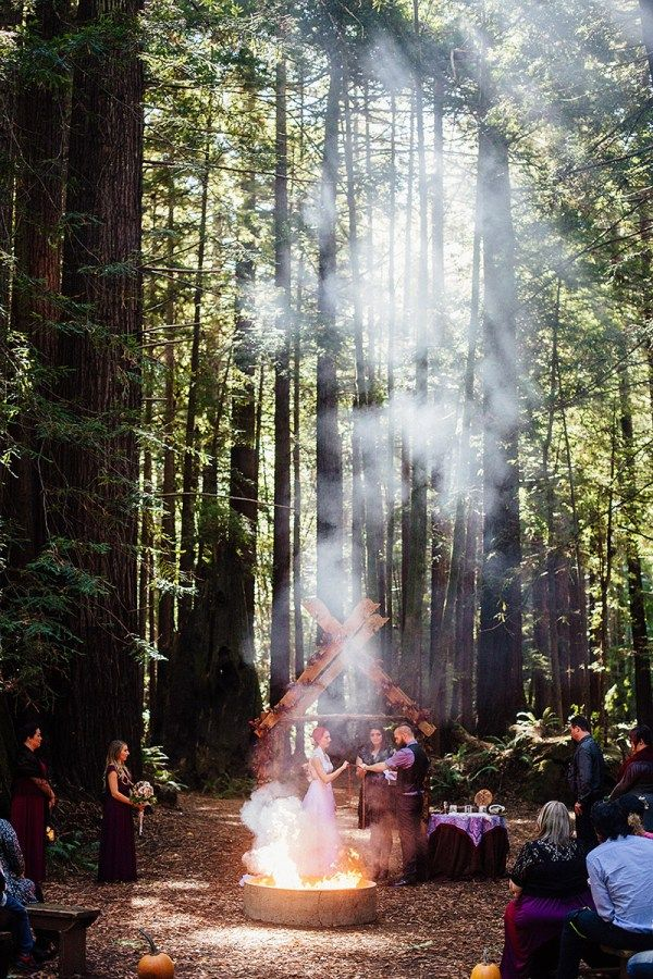 Nordic ceremony and camping wedding as seen on @offbeatbride