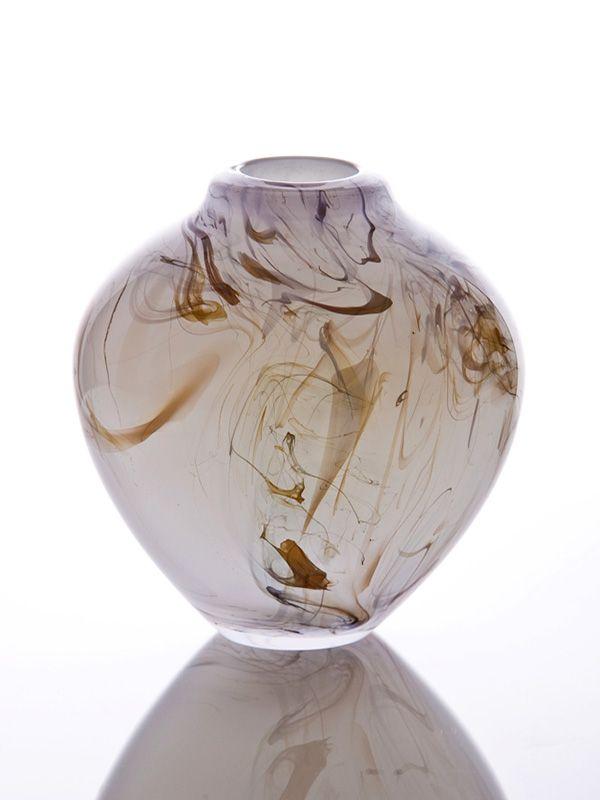 Junction Art Gallery - Kalki Mansel 'Smoke Trail' Pot blown glass £98.00 http://www.junctionartgallery.co.uk/artists/glass/kalki-mansel/smoke-trail-pot