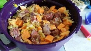 Curry de porc aux patates douces au Micro Minute