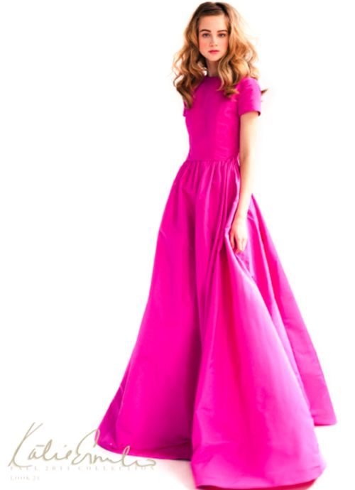 hot pink dress..Ball Gowns, Pink Dresses, Style, Kate Ermilio, Katy Emilio, Beautiful Dresses, Ermilio Fall, Hot Pink, Katy Ermilio