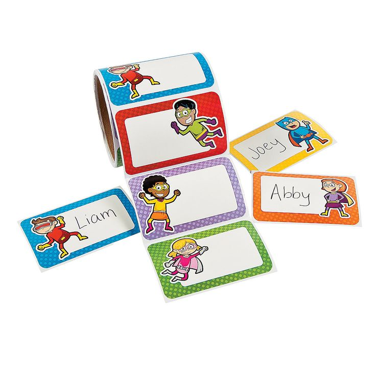 Superhero Name Tags/Labels - OrientalTrading.com