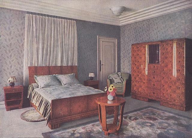 Art Deco Furniture Styles Decor Bedroom Interiors Vintage Room Suites Nouveau Villa