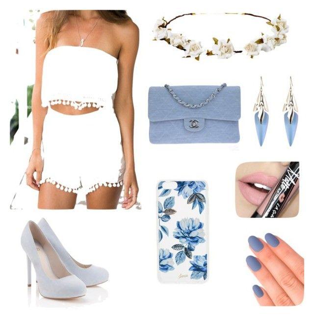 """"" by martyna-janas on Polyvore featuring moda, Lipsy, Chanel, Cult Gaia, Alexis Bittar, Sonix, Elegant Touch i Fiebiger"