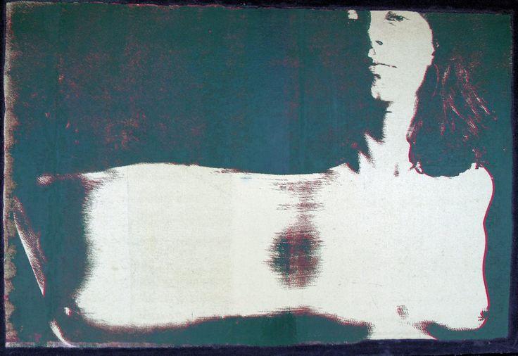 """Ambiguity"" by Sandy Lawson (c) 2002. silkscreen on canvas. 24"" x 37"""