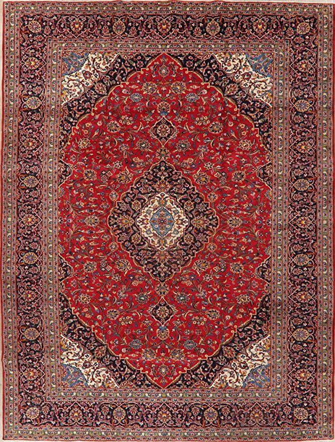 Vintage Floral Medallion Kashan Persian Area Rug Handmade Red Living Room Oriental Carpet 10 X 13 9 11 In 2020 Handmade Area Rugs Oriental Carpets Persian Area Rugs