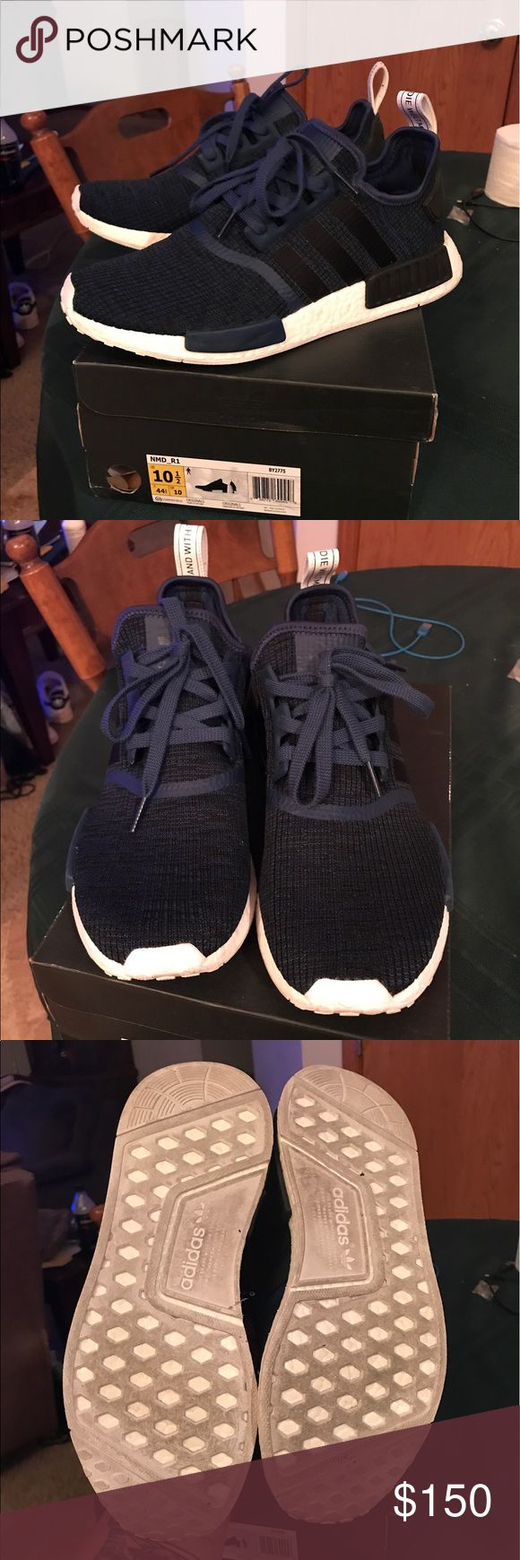 Adidas NMD R1 Size 10.5. I just purchased these are wore them one time. They are the most comfortable shoes I have ever worn. Just not my style unfortunately. The come with the original box. They are 100% authentic shoes. I am just trying not to lose a lot of money on them so be fair. I paid $165 including shipping.  PRICE IS FIRM ON THESE. JUST TRYING NOT TO LOSE ALOT OF MONEY ON THEM. adidas Shoes Sneakers