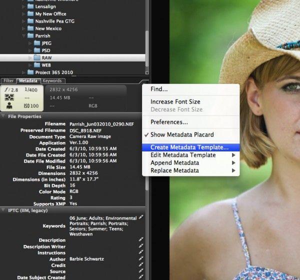 Digital Workflow Using Photoshop and Adobe Camera Raw and BridgeBridges Metadata, Digital Workflow, 600X560 Digital, Adobe Cameras, Create Metadata, Camera Raw, Cameras Raw, Barbie Schwartz, Photoshop