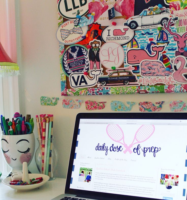 Preppy Desk  Www.dailydoseofprep.com
