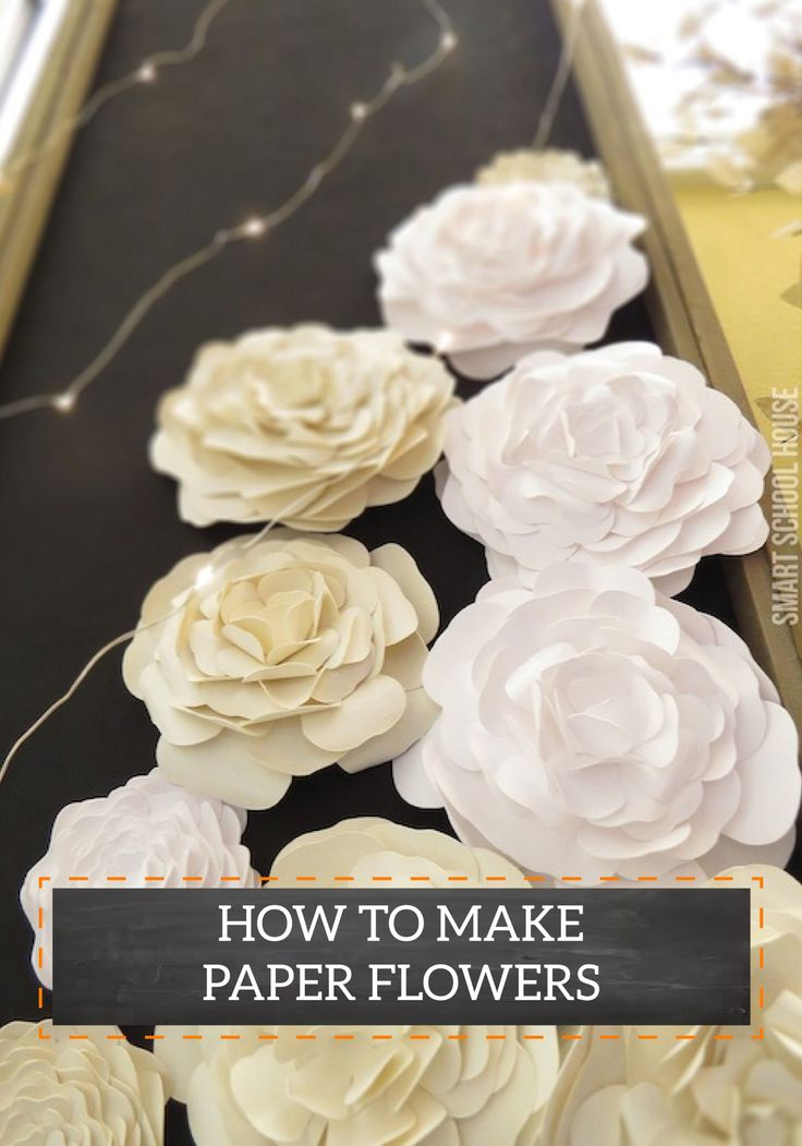 Paper flowers make wonderful decorations for dinner parties. String them along the wall with twinkly lights or place them on the table for a chic look.