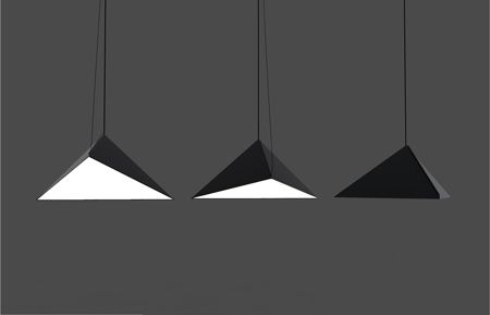 Swedish architects Tham & Videgård Hansson have designed their first product – a folded metal pendant light.