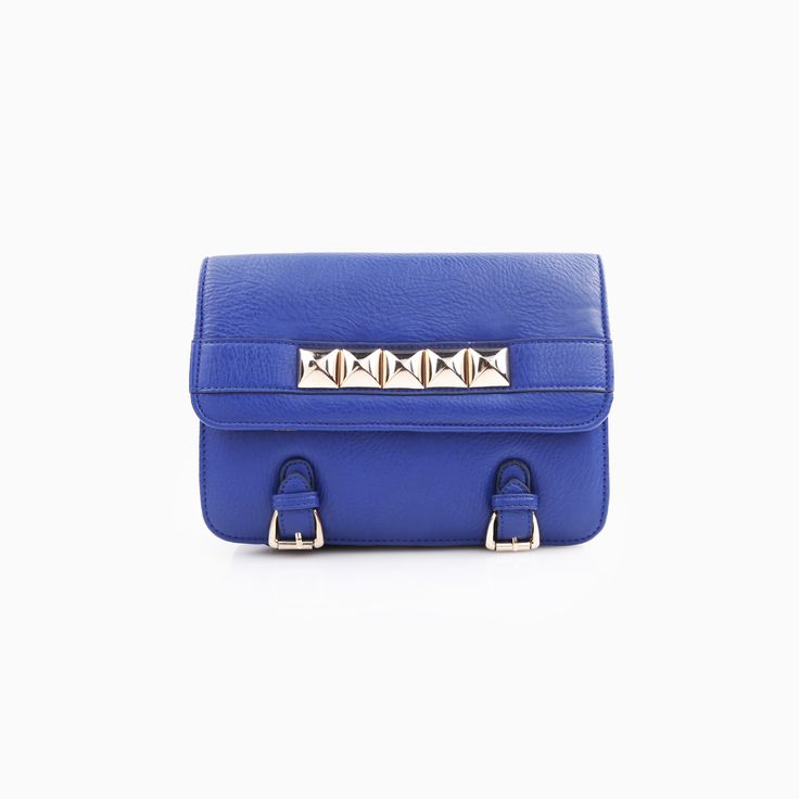 blue and studs, cute for everyday use.: Style Bags, Fall Winter Clothes, Fashion, Handbags Bags 9, Inspiration, Accessories, Bag Fetish