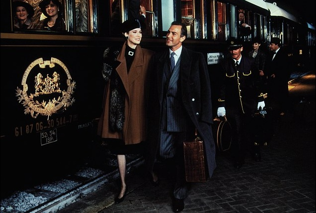 Louis Vuitton's Autumn Collection ad campaign harks back to the early days of rail travel elegance. Check out our website for genuine LV luggage: http://www.vintageseekers.com/design/luggage/designer/louis-vuitton