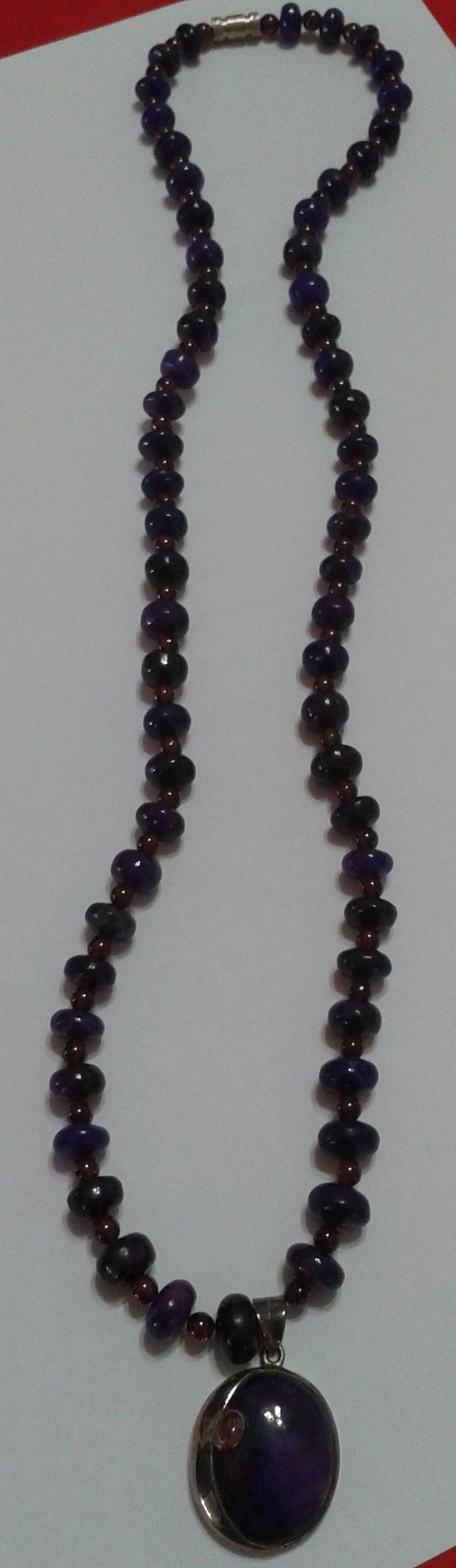 Colite Sapphires – Maroon Necklace - Beautiful long maroon colour crystals necklace to match fashionable clothing.