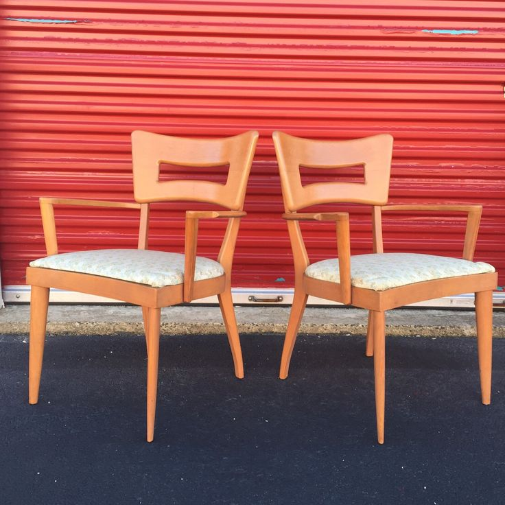 Pair of Mid Century Dining Chairs by Heywood Wakefield by asburyparkvintage on Etsy https://www.etsy.com/listing/272349344/pair-of-mid-century-dining-chairs-by
