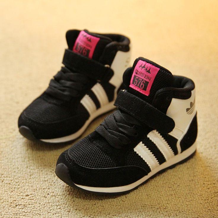 Модели Весенняя мода дышащая скольжения детская обувь, повседневная обувь, мальчики и девочки весной моделей мужских моделей высокого верха обуви - Taobao