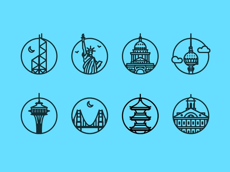 More City Icons by Prekesh Chavda for nickles&pickles