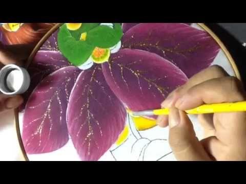Pintura en tela niña nochebuena # 4 con cony - YouTube