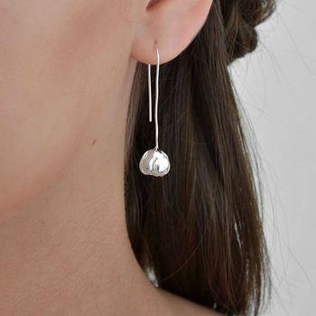 Sterling Silver Blossom Drop Earrings