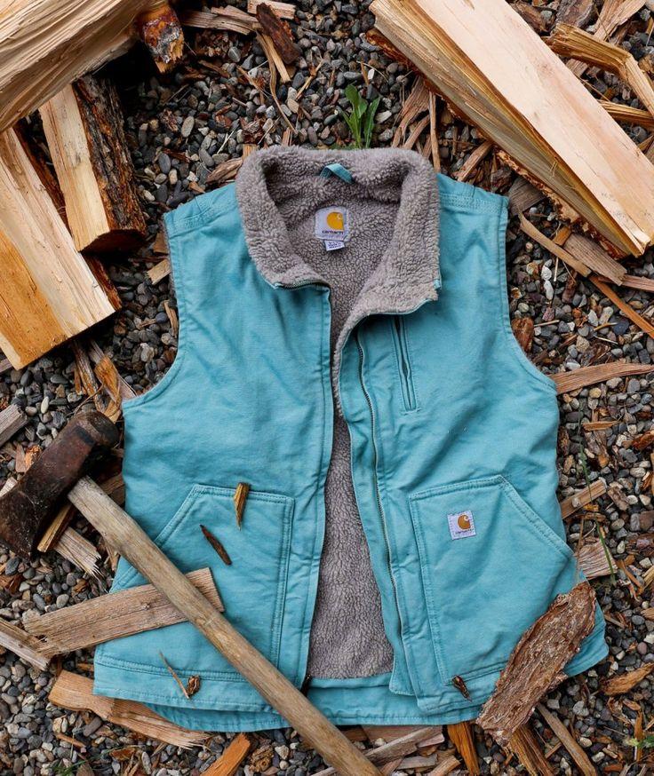 Carhartt Sandstone Mock-Neck Sherpa-Lined Vest