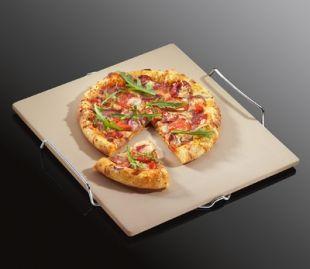 Камень для выпекания пиццы(Pizza stone) 38*35,5 см, мрамор, Kuchenprofi