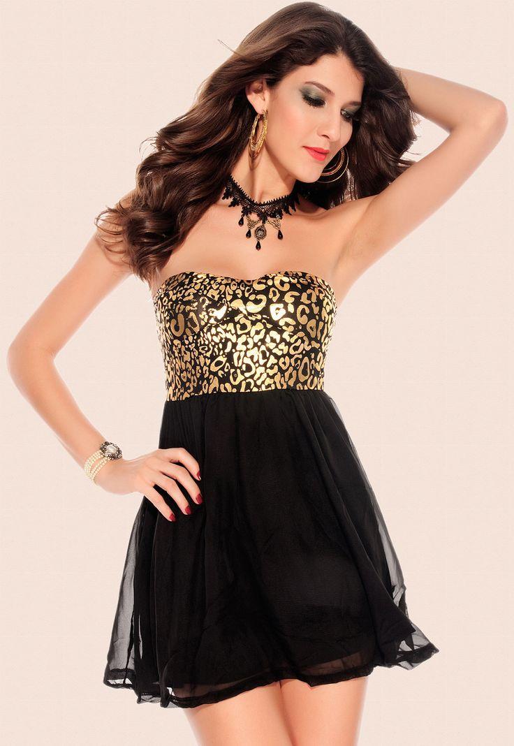 Metallic Padded Prom Dress