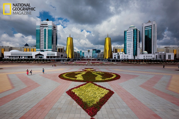 "Kazakhstan is one of the countries that is booming after the Soviet era. I haven't been there but people who had been there are quite impressed.    Above photo - Floral flourishes decorate Nurzhol Boulevard, or ""Radiant Path.""    There is a very interesting article in the February 2012 issue of National Geographic magazine. You can find below an excerpt from the article."