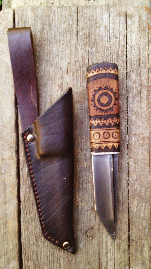 Нож. Материал: бук. Пирография. Knife. Material: beech. Pyrography.