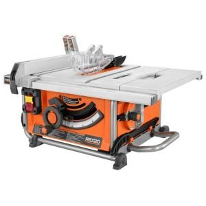 RIDGID, 15 Amp 10 in. Compact Table Saw, R4516 at The Home Depot - Mobile