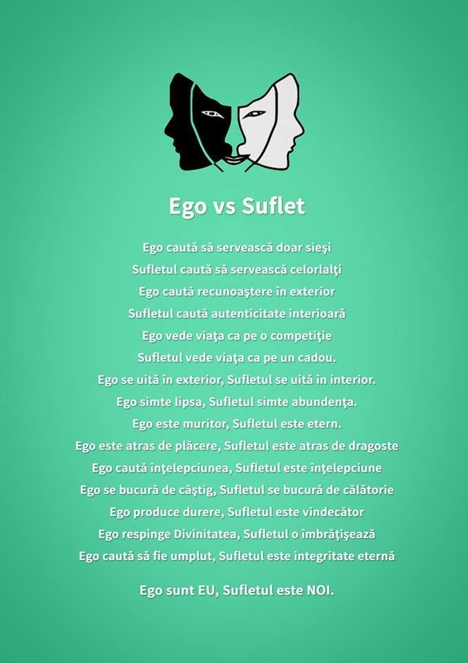 Ego sunt EU, Sufletul este NOI. #haiperacheta