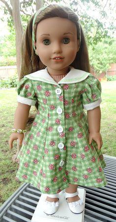 "18"" Doll Clothes Summer Dress Fits American Girl Maryellen, Lea Clark"