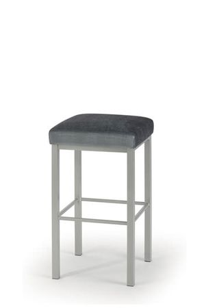 """Trica's Day Stationary Backless Bar Stool • 26"""" or 30"""" Choose your leg finish and fabric."""