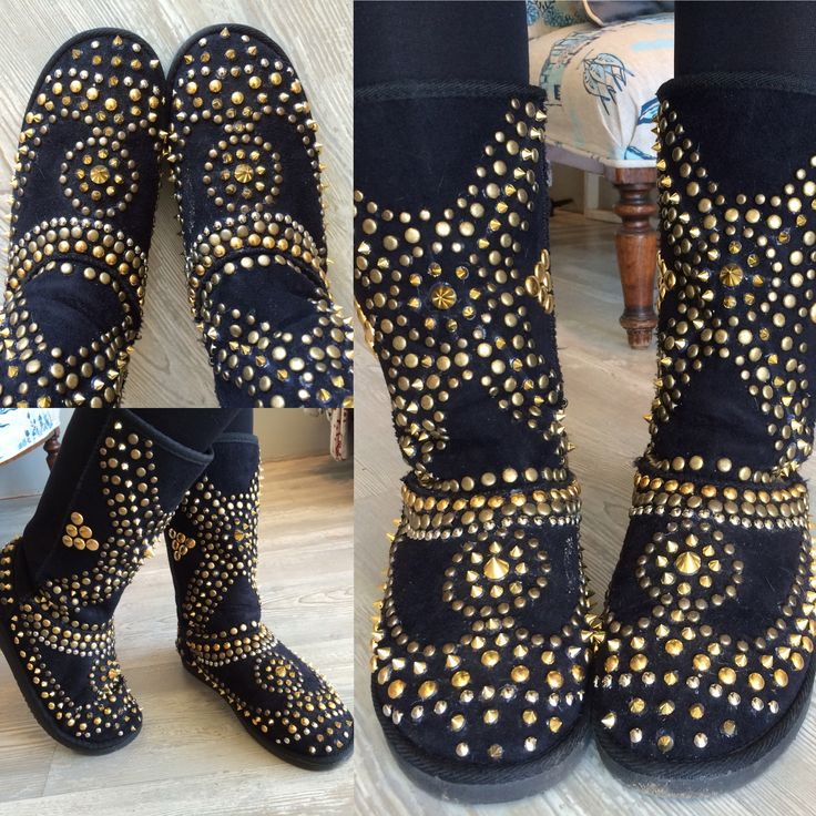 Spiked booties done by mua - MBD