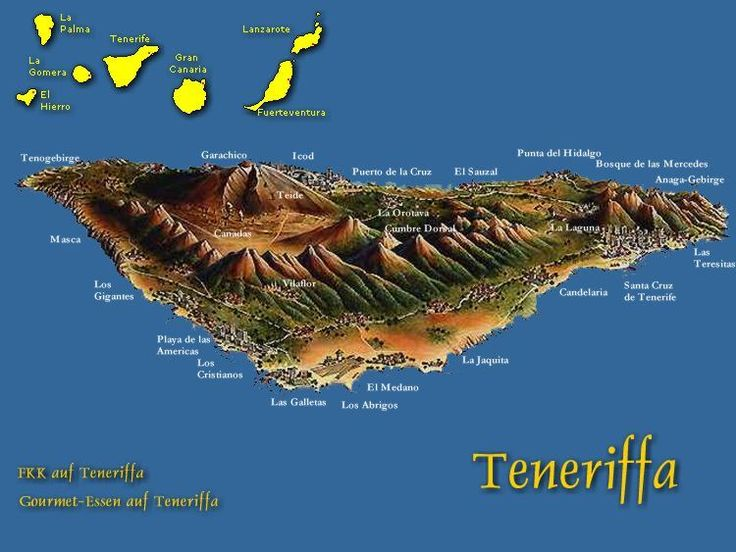 Karte Teneriffa - Übersicht