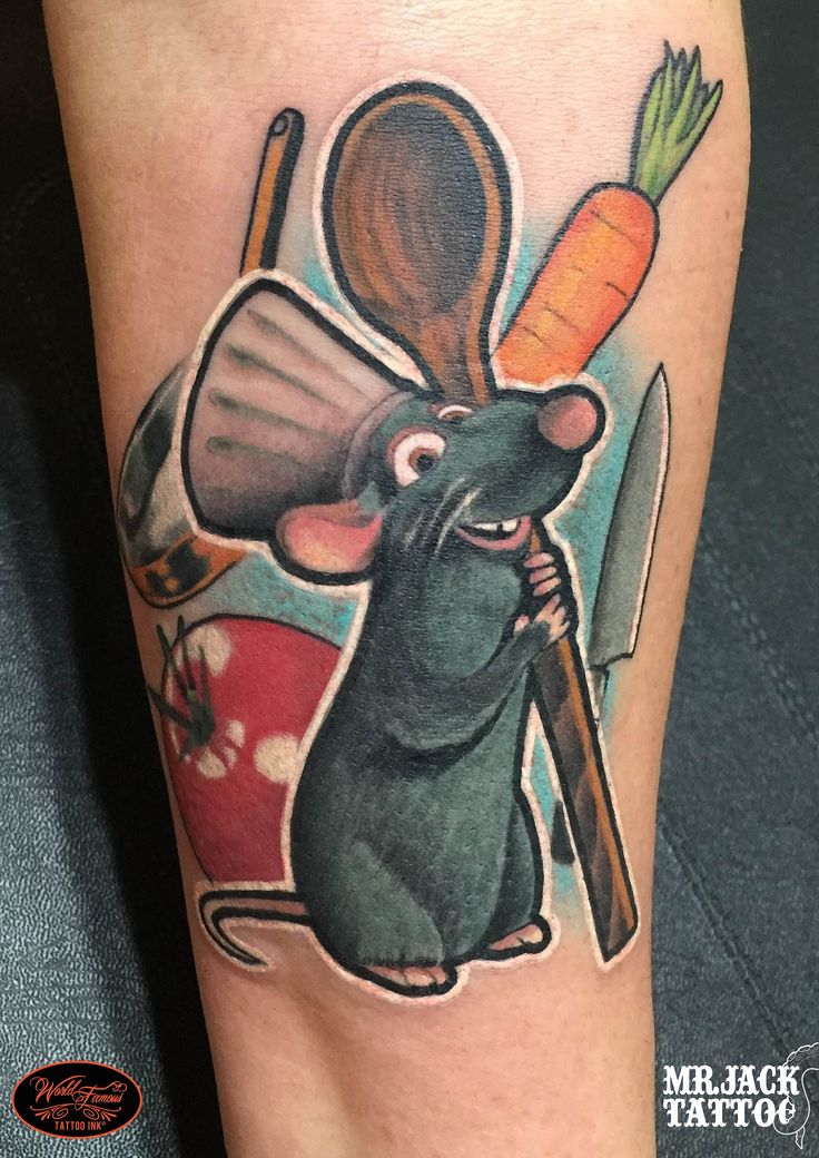 #ratatouille #mouse #topolino #pixar #tattoo #tattooartist #colortattoo #mrjack #mrjacktattoo #mrjacktattooartist #tatuaggio #bodyart #arte