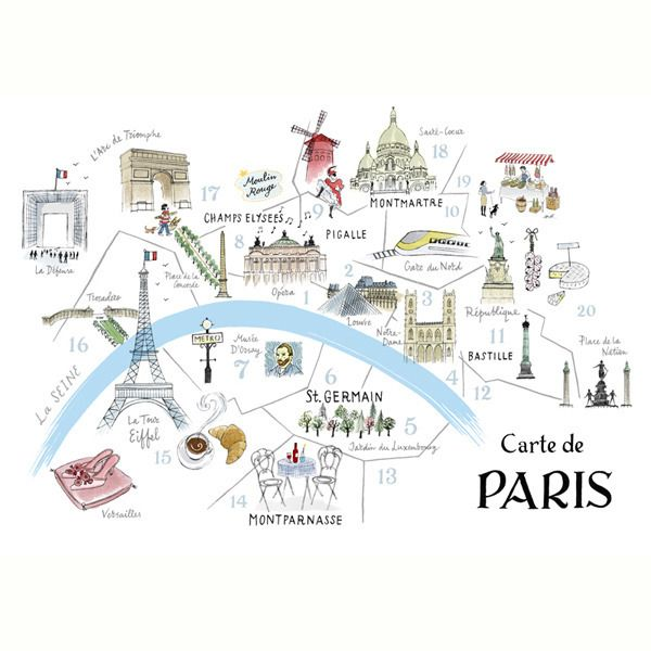 Map of Paris Print - Alice Tait Shop