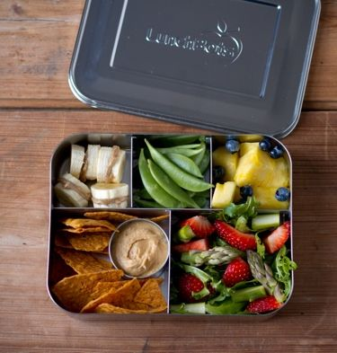 LunchBots Cinco Bento Box Stainless Steel Food and Lunch Container