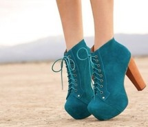 I want a pair of these booties so badly. Not particularly this pair, but these shoes in general.