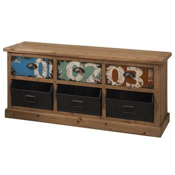 Oslo 3 Drawer Unit with Metal Storage | Accent Furniture | Furniture | Furniture & Home | Costco Mobile UK