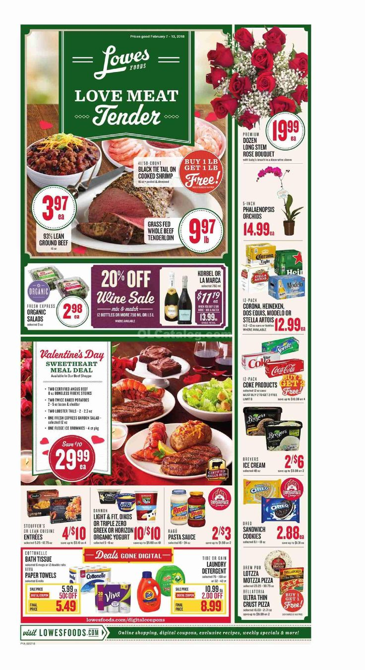 Lowes Foods Weekly Ad February 7 – 13, 2018 – Grocery, Lowes weekly circular comes around almost weekly but frequently people the Grocery, Lowes ad plus they are quick to throw it out. Checking the ads just about every week and clipping out the coupons that can within the weekly flyers can actually be a really rewarding experience. Grocery, Lowes regularly includes coupons which often can equate his almost as much as 50% off your purchase. Which means you could at