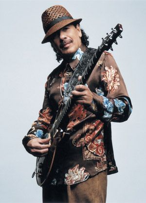 Carlos Santana's guitar playing mesmerizes me....I <3 him...Who can forget when Lauryn Hill chose him to play on her Miseducation of Lauryn Hill album, (he played on the song Zion written for her son). His solo piece was amazing! He actually also designs a line of lady's shoes that are hot.