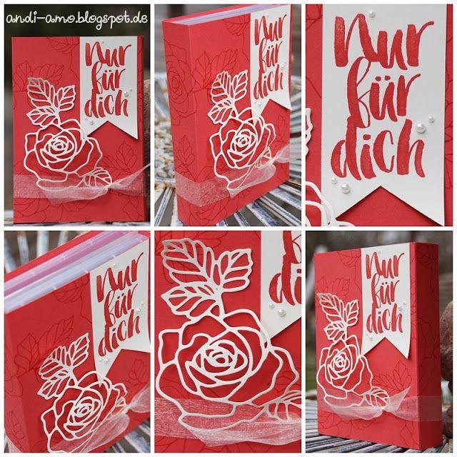 andi-amo Geschenkverpackung mit den Thinlits Rosengarten und dem Stempelset Rosenzauber auf www.andi-amo.blog... #Stampin Up #Rosenzauber #Thinlits Rosengarten