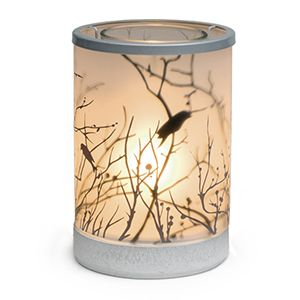 STARLINGS LAMPSHADE SCENTSY WARMER - NEW in the 2016 Fall/Winter Catalog A sunrise snapshot, drenched in golden light and a lifelike, three-dimensional effect. Perfect for nature lovers or anyone who delights in details.