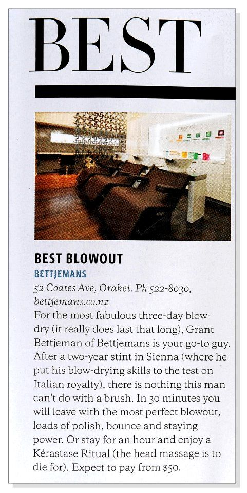 Bettjemans Top Blow Wave Salon - Metro Magazine.