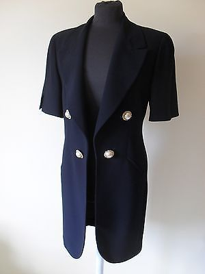 Soprabito Ferò Overcoat Italy Vintage 90s High Fashion Haute Couture size 44 M